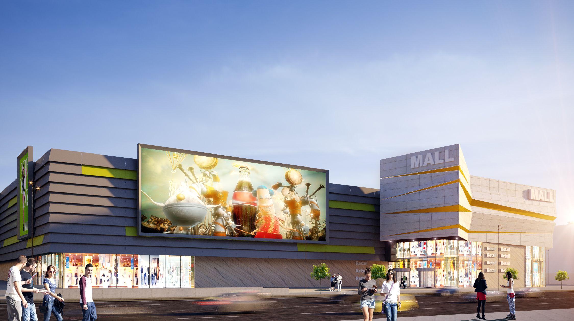 Компания Urban Experts разработала архитектурную концепцию торгового центра в Запорожье
