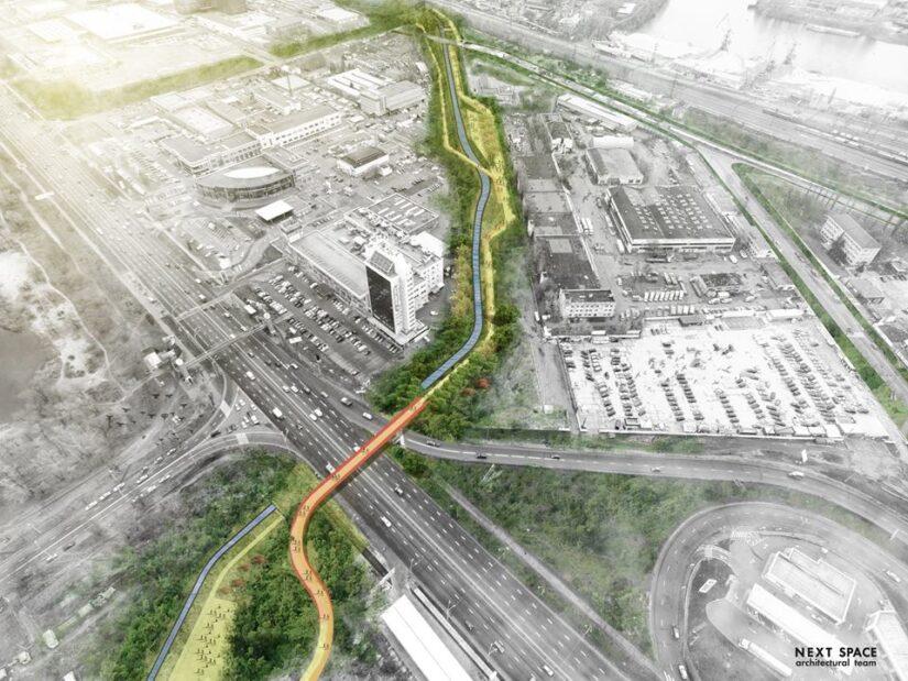 Возле Blockbuster Mall появится парк с выходом к реке Почайна